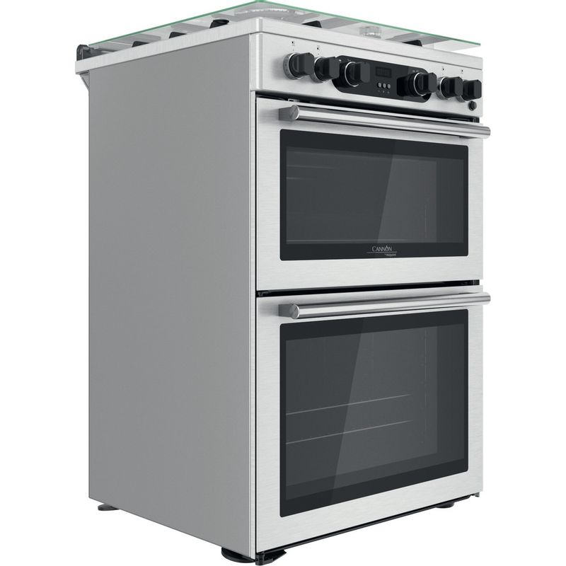 Hotpoint-Double-Cooker-CD67G0CCX-UK-Inox-A--Perspective