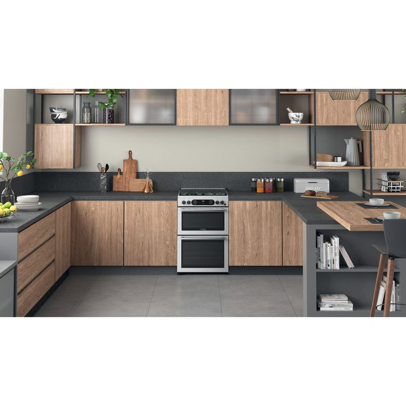 Hotpoint-Double-Cooker-CD67G0CCX-UK-Inox-A--Lifestyle-frontal