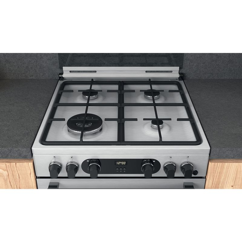 Hotpoint-Double-Cooker-CD67G0CCX-UK-Inox-A--Lifestyle-frontal-top-down