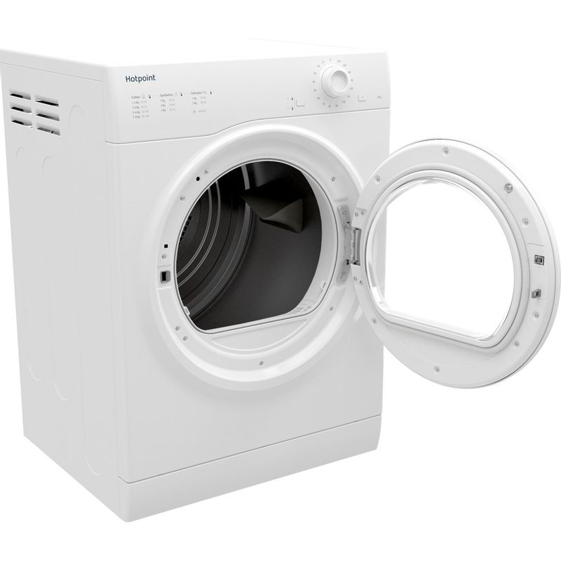 Hotpoint-Dryer-H1-D80W-UK-White-Perspective-open