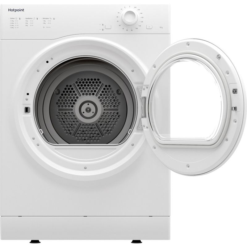 Hotpoint-Dryer-H1-D80W-UK-White-Frontal-open