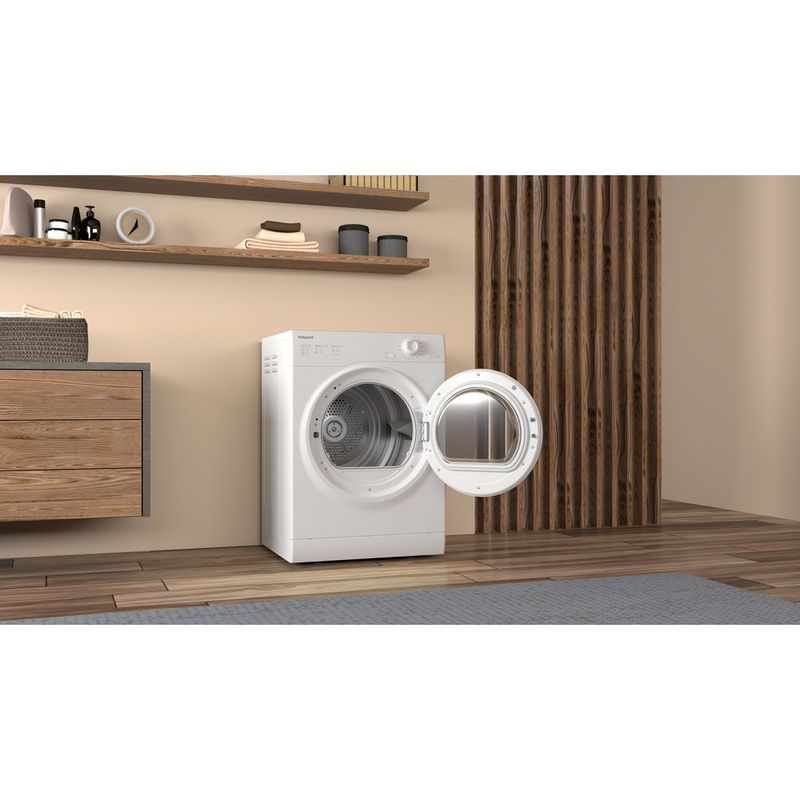 Hotpoint-Dryer-H1-D80W-UK-White-Lifestyle-perspective-open