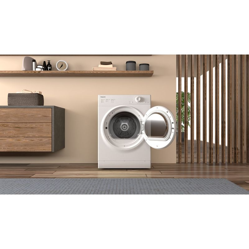Hotpoint-Dryer-H1-D80W-UK-White-Lifestyle-frontal-open