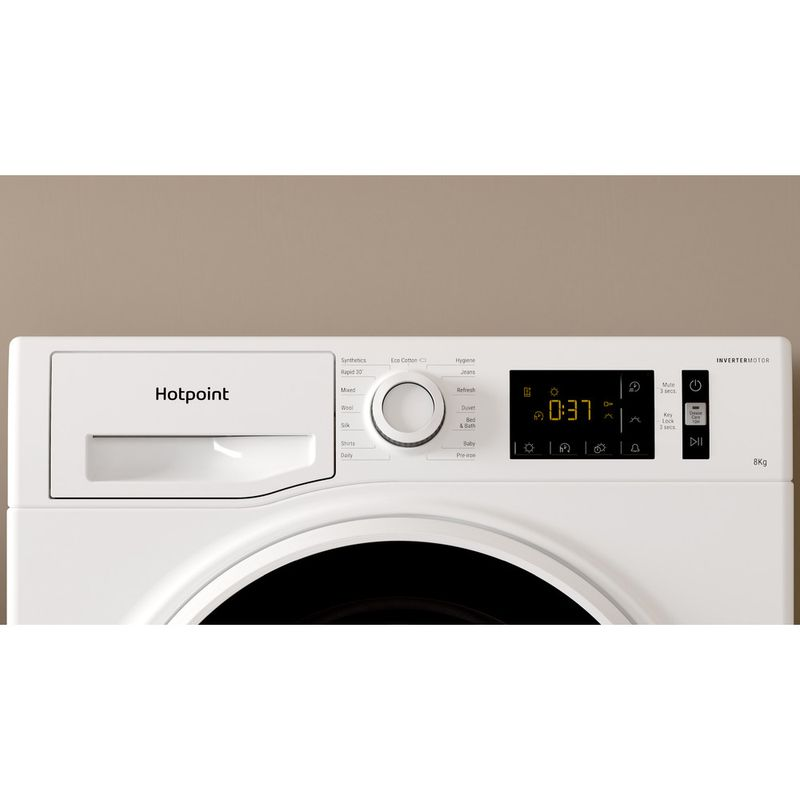 Hotpoint-Dryer-H3-D81WB-UK-White-Lifestyle-control-panel