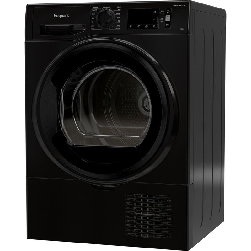 Hotpoint-Dryer-H3-D81B-UK-Black-Perspective