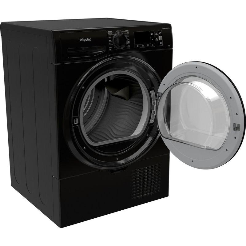 Hotpoint-Dryer-H3-D81B-UK-Black-Perspective-open