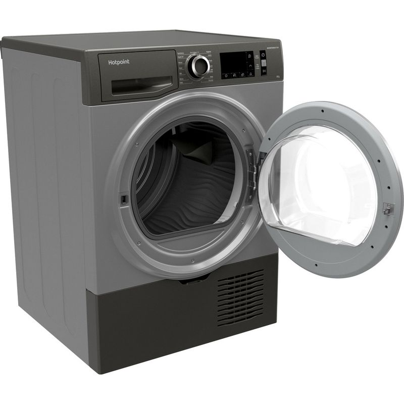Hotpoint-Dryer-H3-D81GS-UK-Graphite-Perspective-open