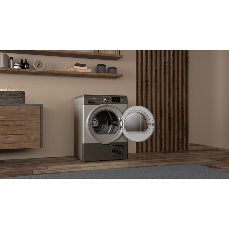 Hotpoint-Dryer-H3-D81GS-UK-Graphite-Lifestyle-perspective-open
