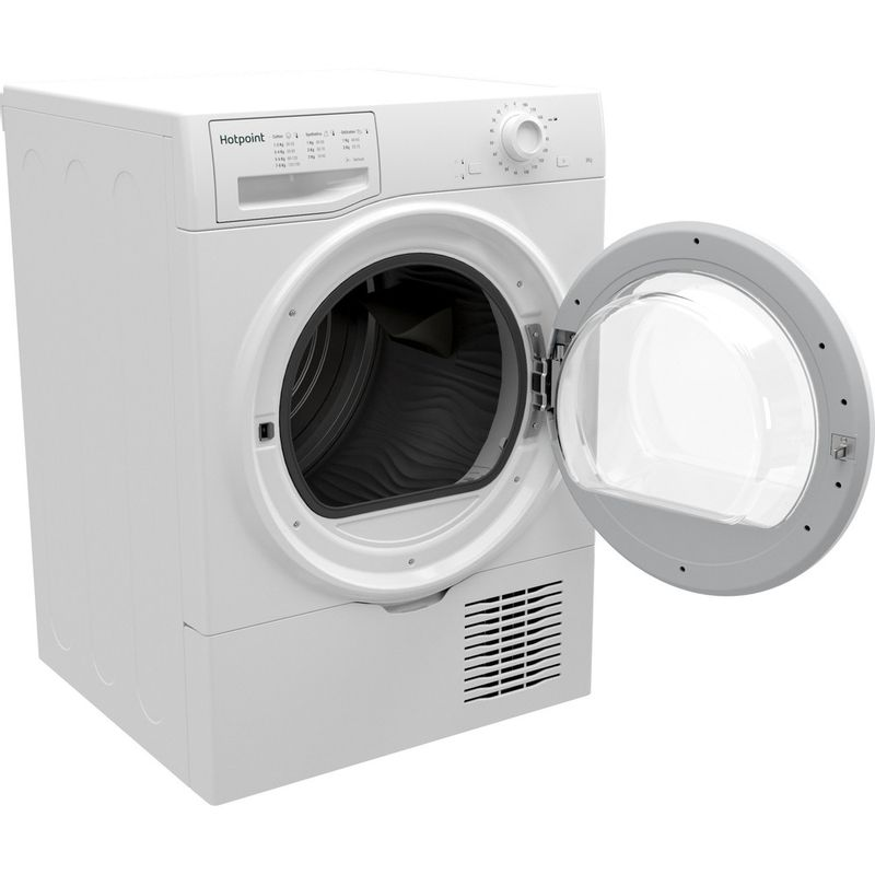 Hotpoint-Dryer-H2-D81W-UK-White-Perspective-open
