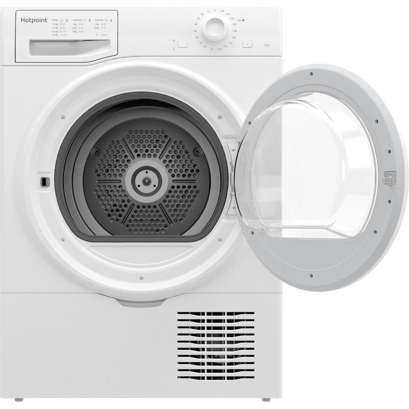 Hotpoint-Dryer-H2-D81W-UK-White-Frontal-open