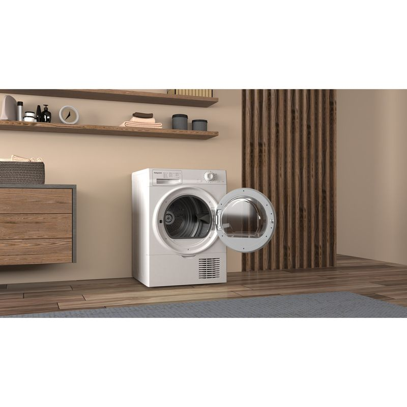 Hotpoint-Dryer-H2-D81W-UK-White-Lifestyle-perspective-open