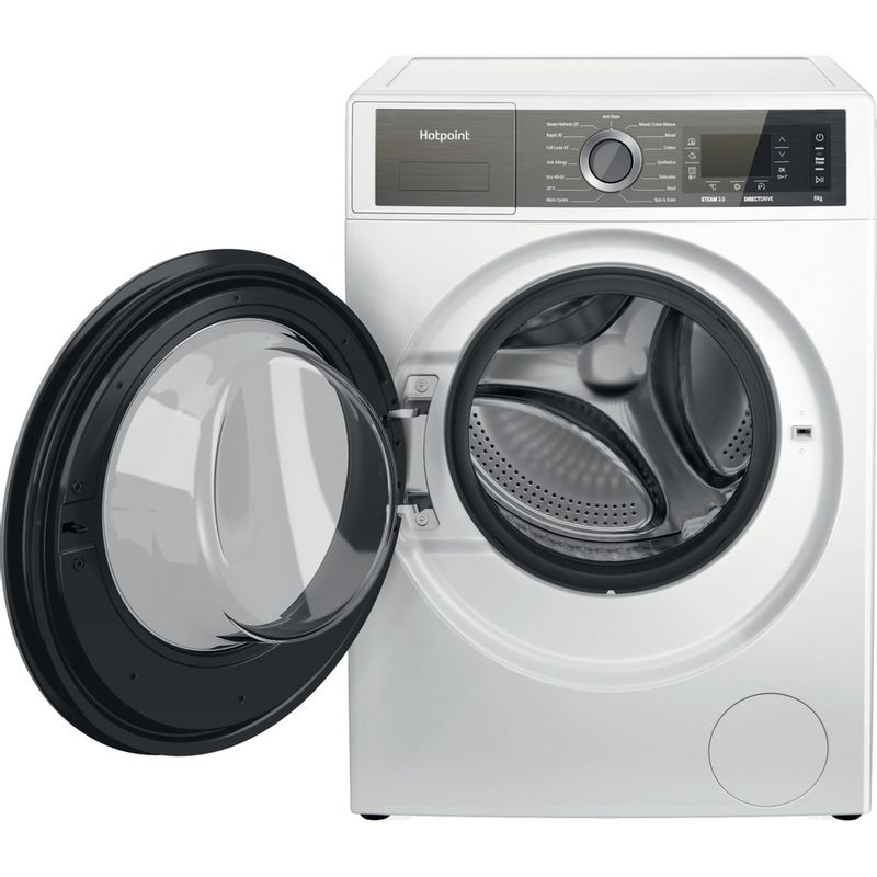 Hotpoint-Washing-machine-Free-standing-H6-W845WB-UK-White-Front-loader-B-Frontal-open
