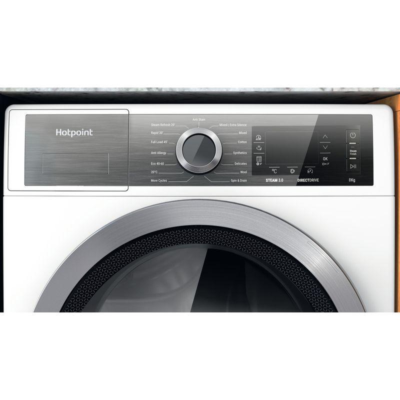 Hotpoint-Washing-machine-Free-standing-H6-W845WB-UK-White-Front-loader-B-Control-panel