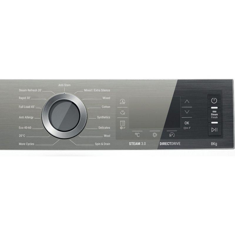 Hotpoint-Washing-machine-Free-standing-H6-W845WB-UK-White-Front-loader-B-Program