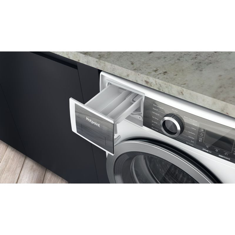 Hotpoint-Washing-machine-Free-standing-H6-W845WB-UK-White-Front-loader-B-Drawer