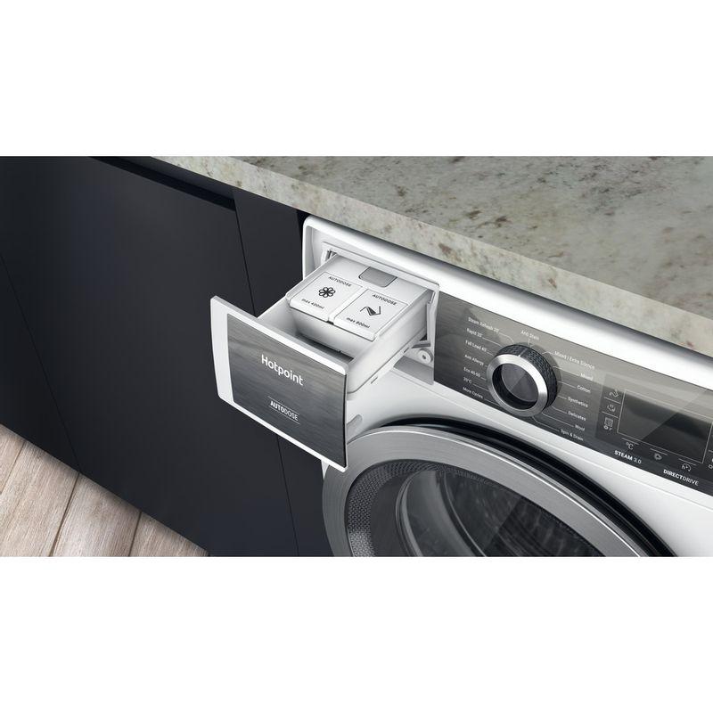 Hotpoint-Washing-machine-Free-standing-H7-W945WB-UK-White-Front-loader-B-Drawer