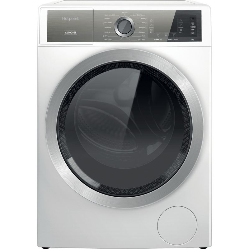 Hotpoint-Washing-machine-Free-standing-H8-W946WB-UK-White-Front-loader-A-Frontal
