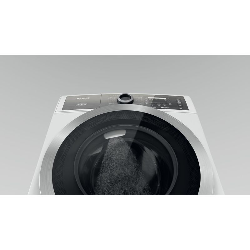 Hotpoint-Washing-machine-Free-standing-H8-W946WB-UK-White-Front-loader-A-Perspective