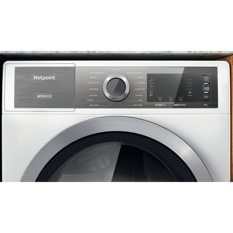 Hotpoint-Washing-machine-Free-standing-H8-W946WB-UK-White-Front-loader-A-Control-panel