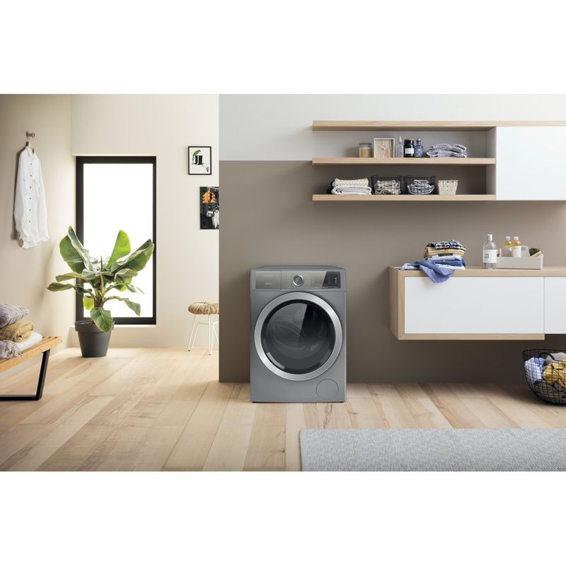 Hotpoint-Washing-machine-Free-standing-H8-W046SB-UK-Silver-Front-loader-A-Lifestyle-frontal