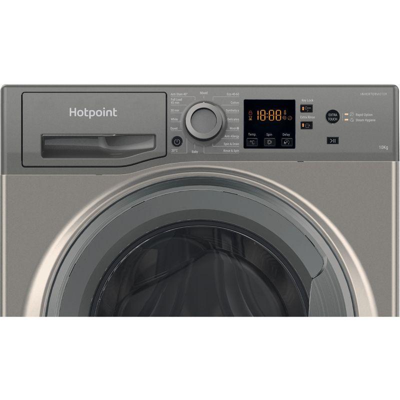 Hotpoint-Washing-machine-Free-standing-NSWM-1043C-GG-UK-N-Graphite-Front-loader-C-Control-panel