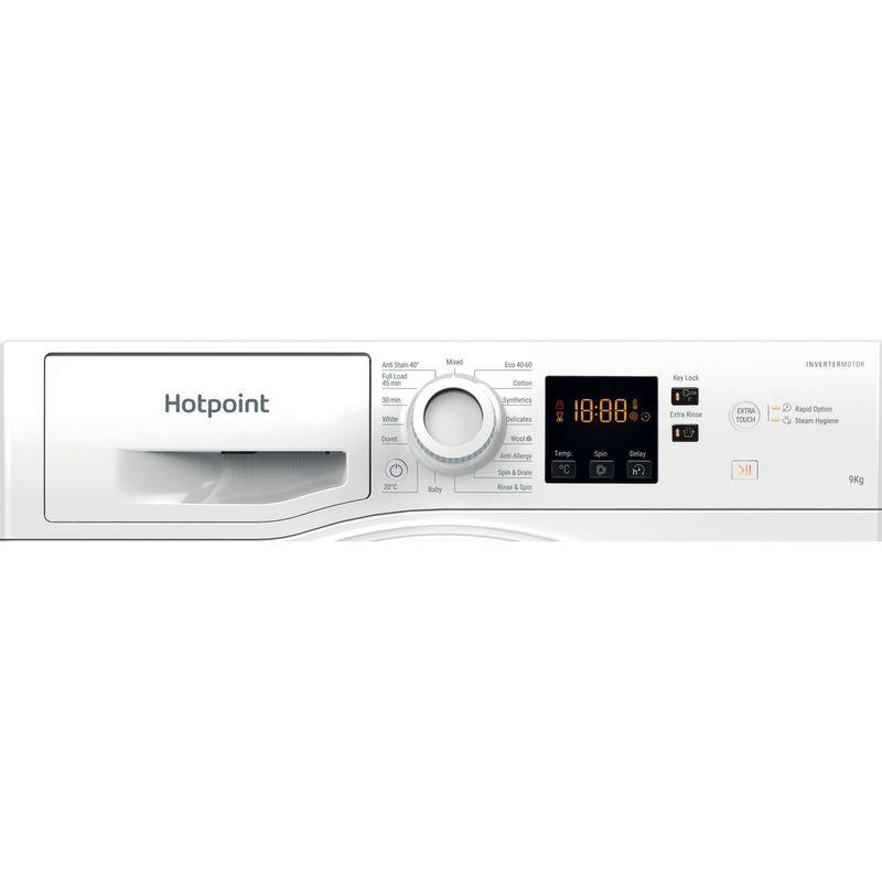 Hotpoint-Washing-machine-Free-standing-NSWR-944C-WK-UK-N-White-Front-loader-C-Control-panel