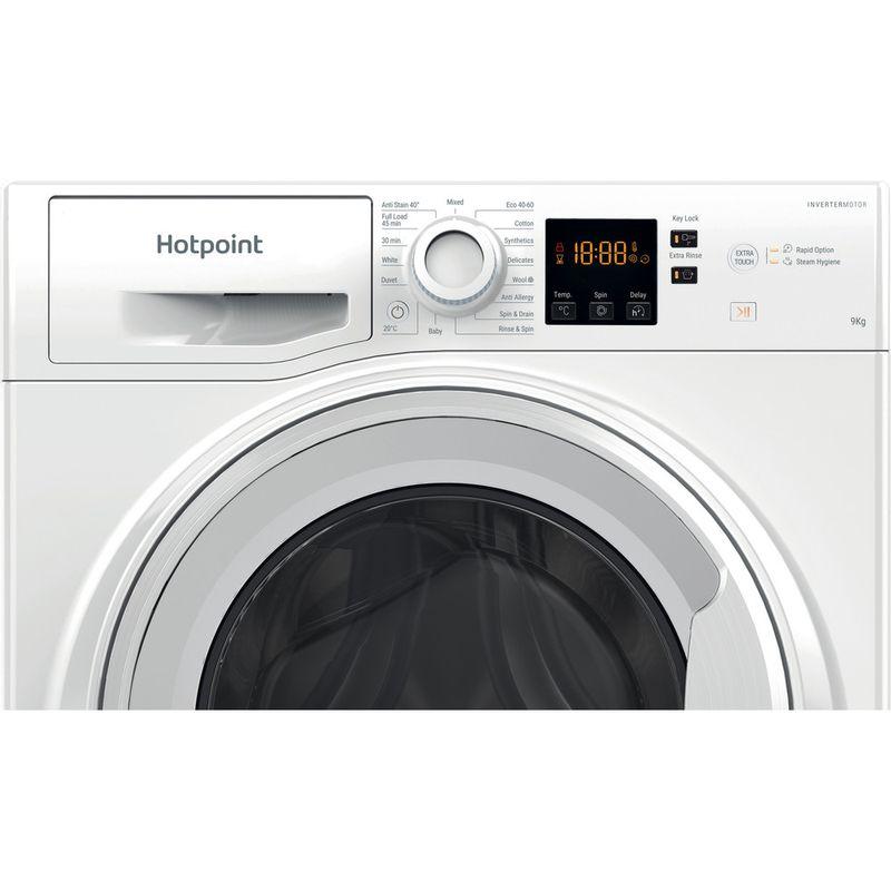 Hotpoint-Washing-machine-Free-standing-NSWF-944C-W-UK-N-White-Front-loader-C-Control-panel