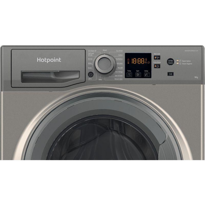 Hotpoint-Washing-machine-Free-standing-NSWF-944C-GG-UK-N-Graphite-Front-loader-C-Control-panel