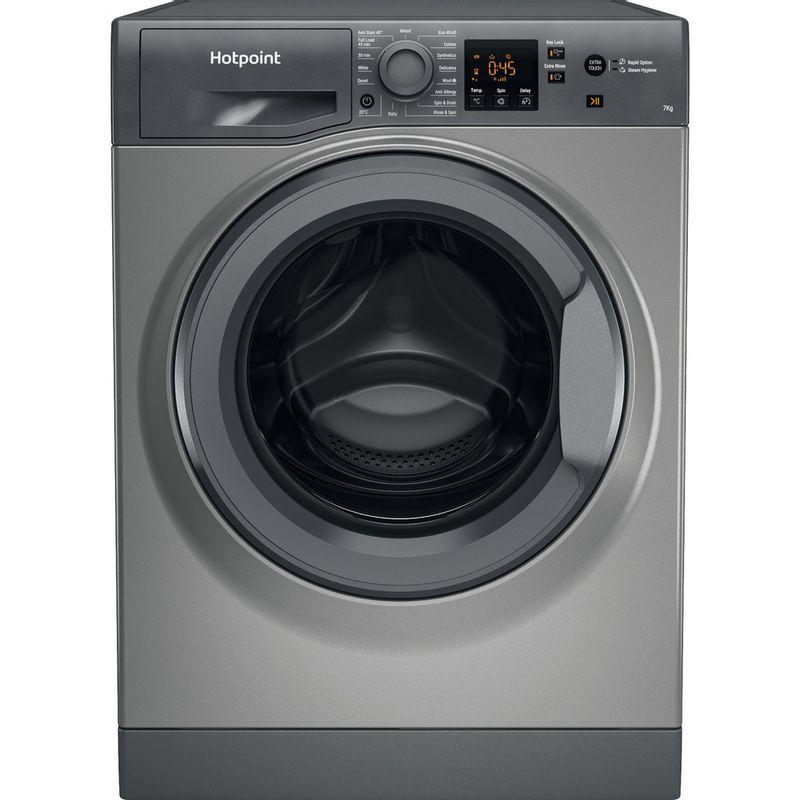 Hotpoint-Washing-machine-Free-standing-NSWR-743U-GK-UK-N-Graphite-Front-loader-D-Frontal
