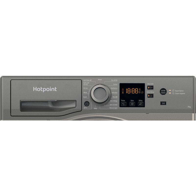 Hotpoint-Washing-machine-Free-standing-NSWR-743U-GK-UK-N-Graphite-Front-loader-D-Control-panel