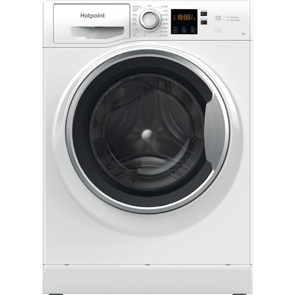 Hotpoint Freestanding Washing Machine NSWE 743U WS UK N : discover the specifications of our home appliances and bring the innovation into your house and family.