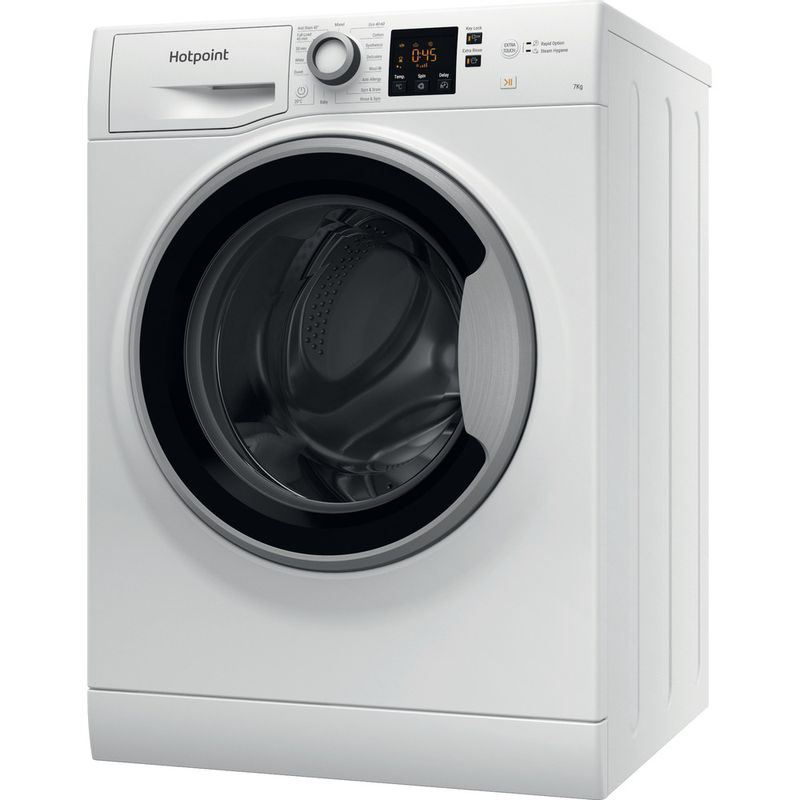 Hotpoint-Washing-machine-Free-standing-NSWE-743U-WS-UK-N-White-Front-loader-D-Perspective
