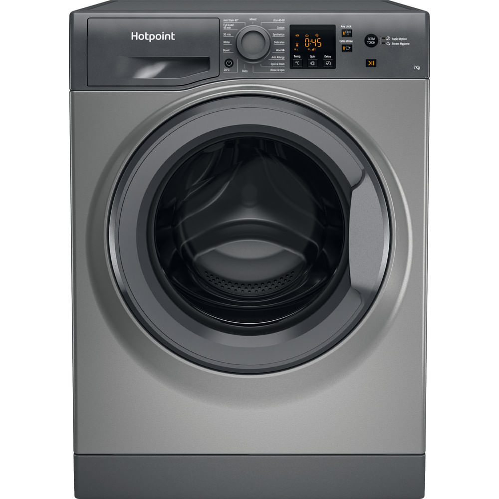 Hotpoint Freestanding Washing Machine NSWF 743U GG UK N : discover the specifications of our home appliances and bring the innovation into your house and family.