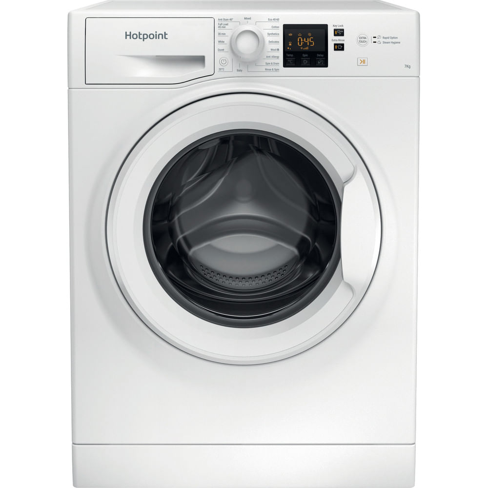 Hotpoint Freestanding Washing Machine NSWR 743U WK UK N : discover the specifications of our home appliances and bring the innovation into your house and family.