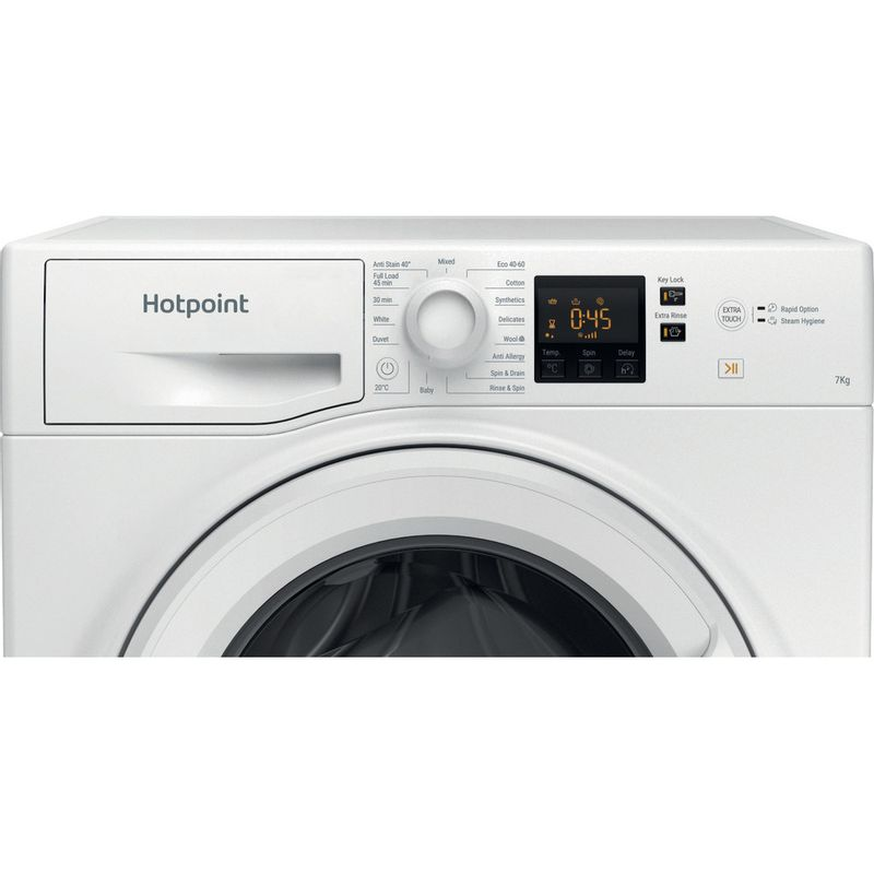 Hotpoint-Washing-machine-Free-standing-NSWR-743U-WK-UK-N-White-Front-loader-D-Control-panel