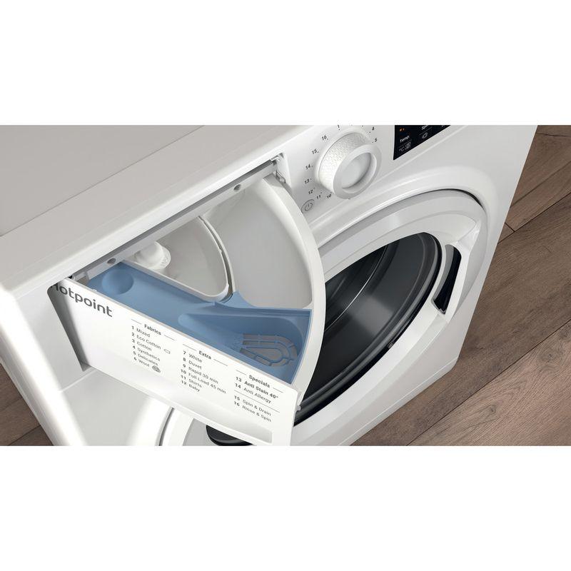 Hotpoint-Washing-machine-Free-standing-NSWR-743U-WK-UK-N-White-Front-loader-D-Drawer