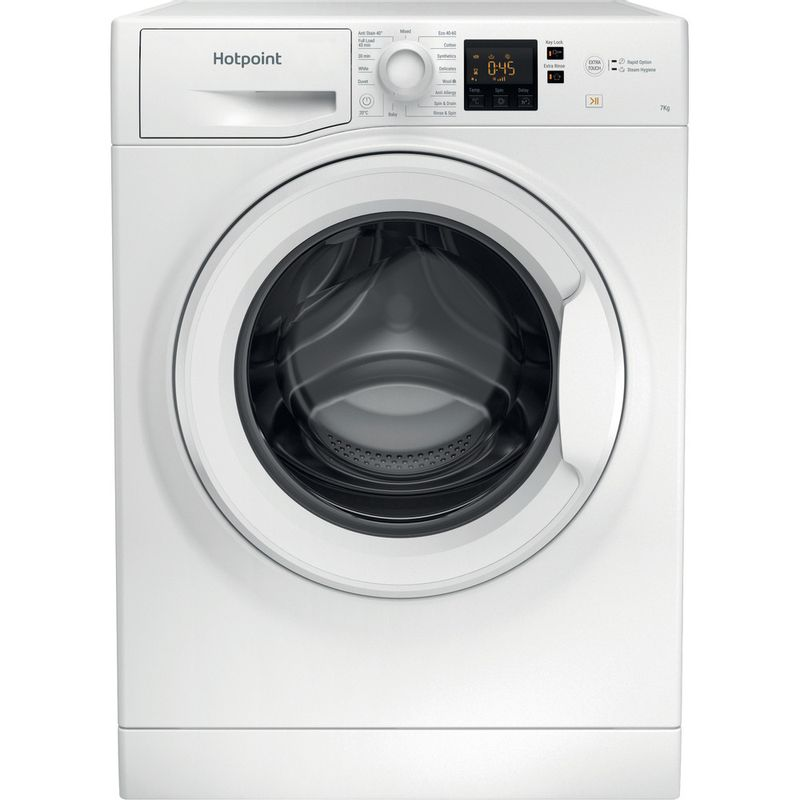 Hotpoint-Washing-machine-Free-standing-NSWF-743U-W-UK-N-White-Front-loader-D-Frontal
