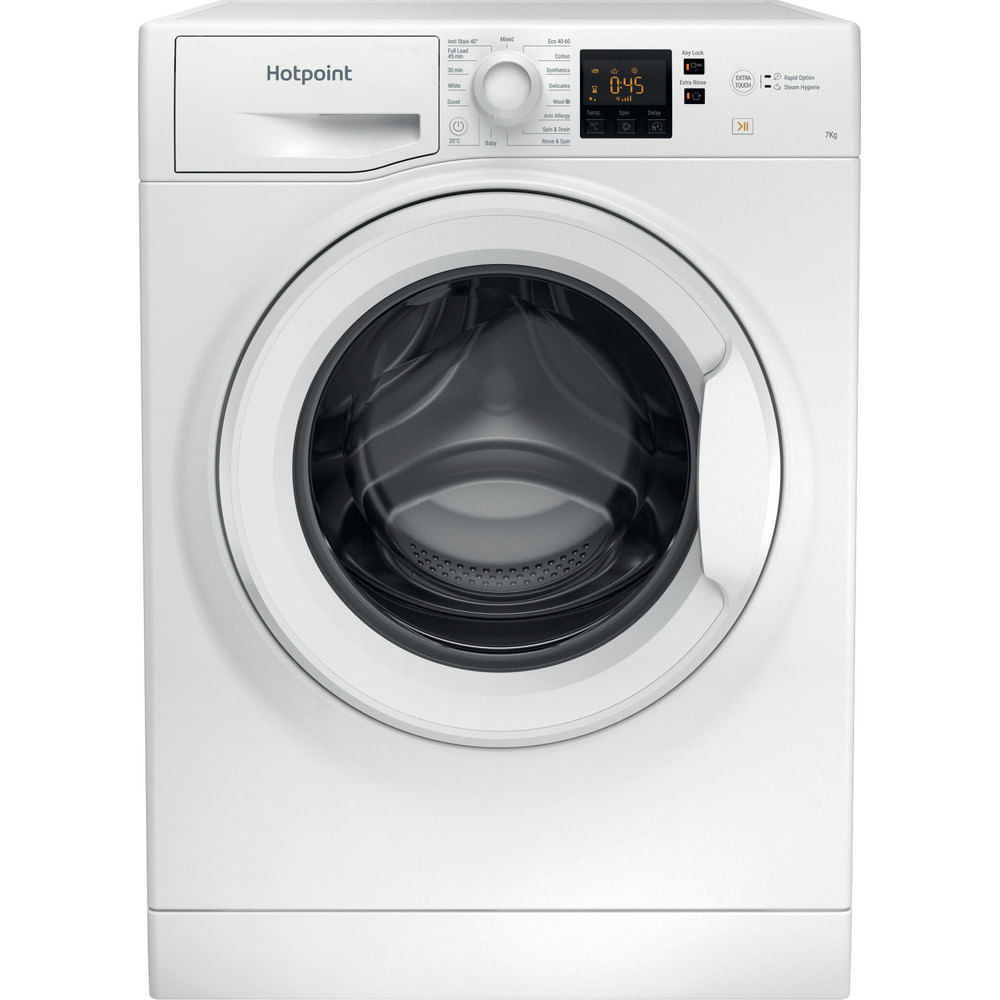 Hotpoint Freestanding Washing Machine NSWF 743U W UK N : discover the specifications of our home appliances and bring the innovation into your house and family.