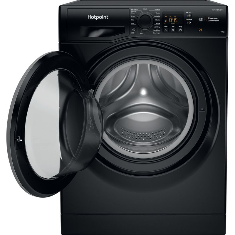 Hotpoint-Washing-machine-Free-standing-NSWM-1044C-BS-UK-N-Black-Front-loader-C-Frontal-open