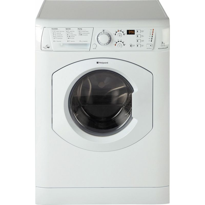 Hotpoint-Washer-dryer-Free-standing-WDF-740-P--UK--White-Front-loader-Frontal
