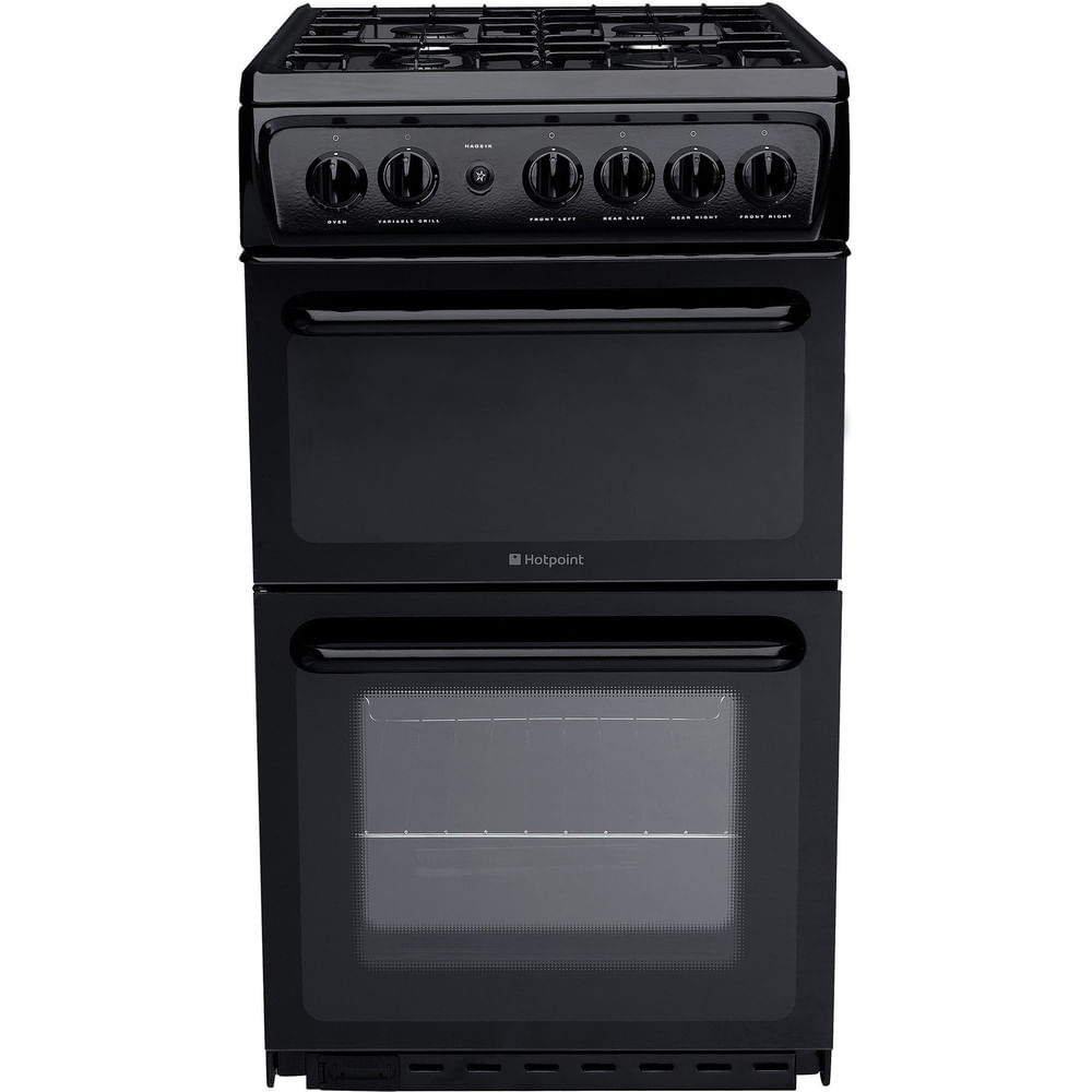 Hotpoint Double Cooker HAG51K : discover the specifications of our home appliances and bring the innovation into your house and family.