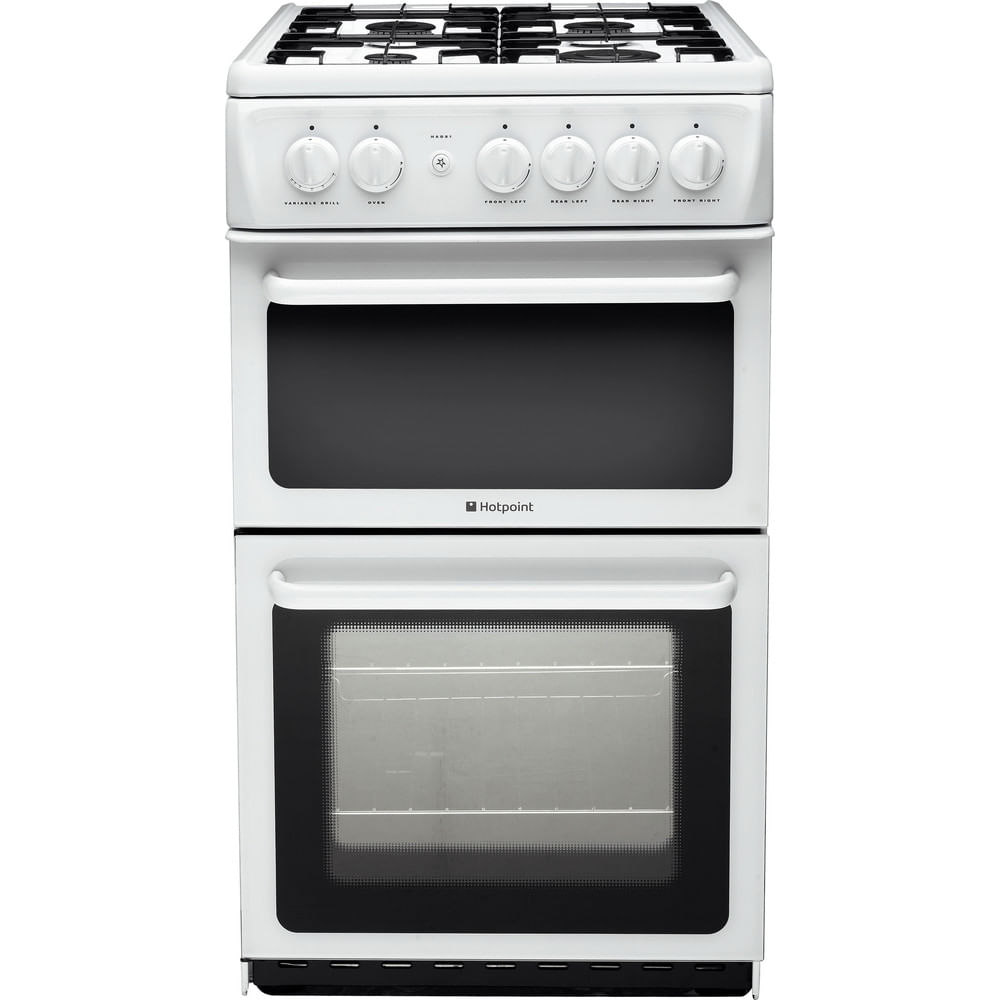 Hotpoint Double Cooker HAG51P : discover the specifications of our home appliances and bring the innovation into your house and family.