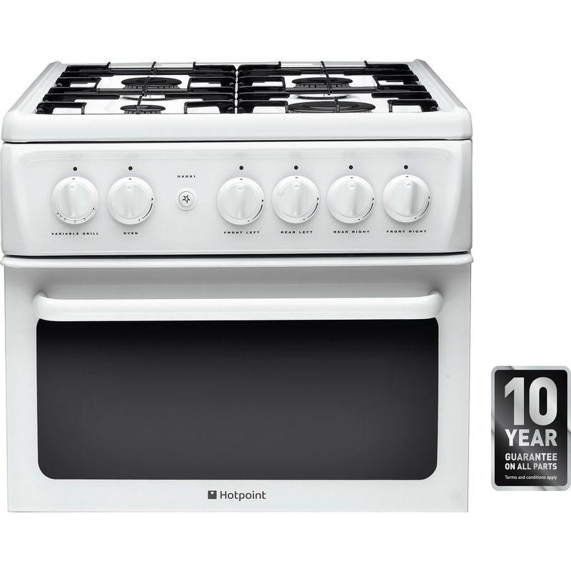 Hotpoint-Double-Cooker-HAG51P-White-A--Enamelled-Sheetmetal-Award