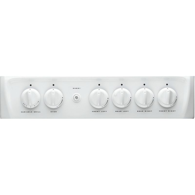Hotpoint-Double-Cooker-HAG51P-White-A--Enamelled-Sheetmetal-Control_Panel