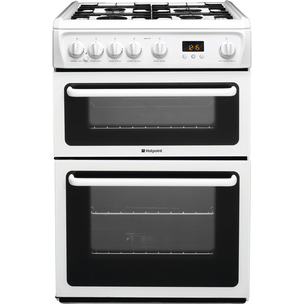Hotpoint Double Cooker HAG60P : discover the specifications of our home appliances and bring the innovation into your house and family.