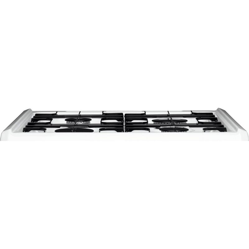 Hotpoint-Double-Cooker-HAG60P-White-A--Enamelled-Sheetmetal-Frontal_Top_Down
