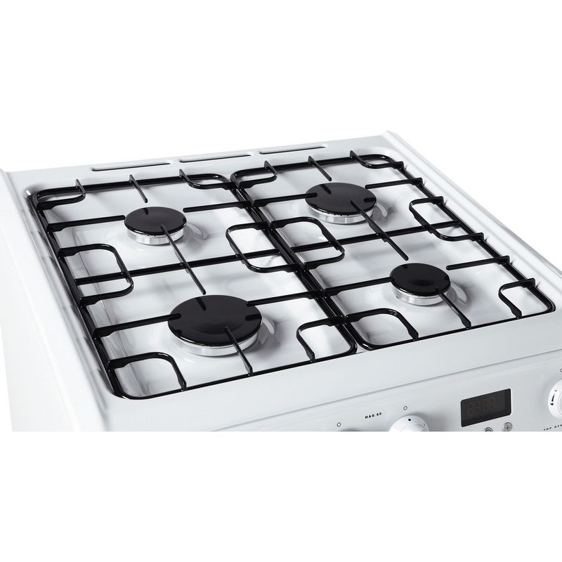 Hotpoint-Double-Cooker-HAG60P-White-A--Enamelled-Sheetmetal-Perspective