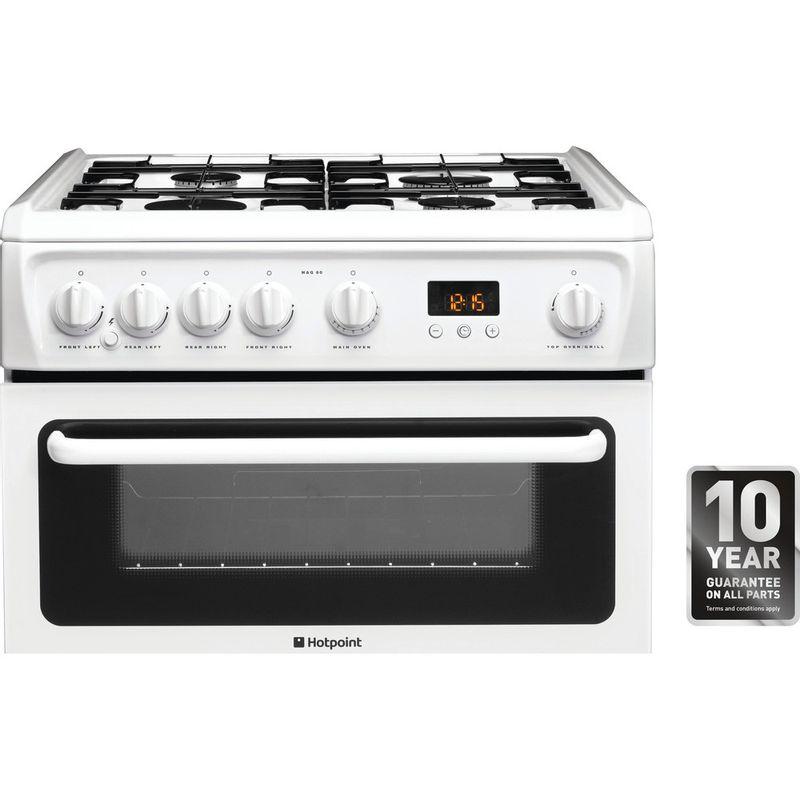 Hotpoint-Double-Cooker-HAG60P-White-A--Enamelled-Sheetmetal-Award