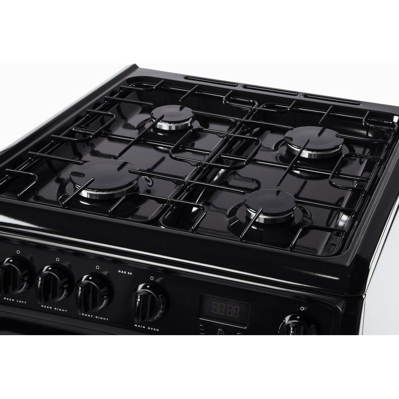 Hotpoint-Double-Cooker-HAG60K-Black-A--Enamelled-Sheetmetal-Frontal_Top_Down