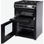 Hotpoint-Double-Cooker-HAG60K-Black-A--Enamelled-Sheetmetal-Perspective_Open